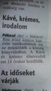 Egy hír a Fejér Megyei Hírlapban... :)